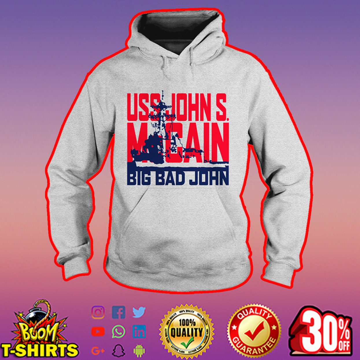 USS John S. McCain Big Bad John hoodie
