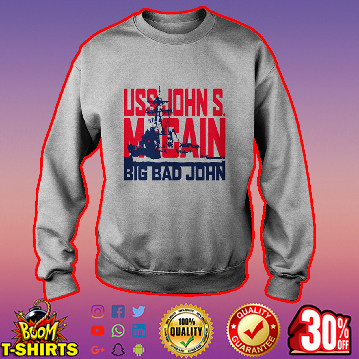 USS John S. McCain Big Bad John sweatshirt