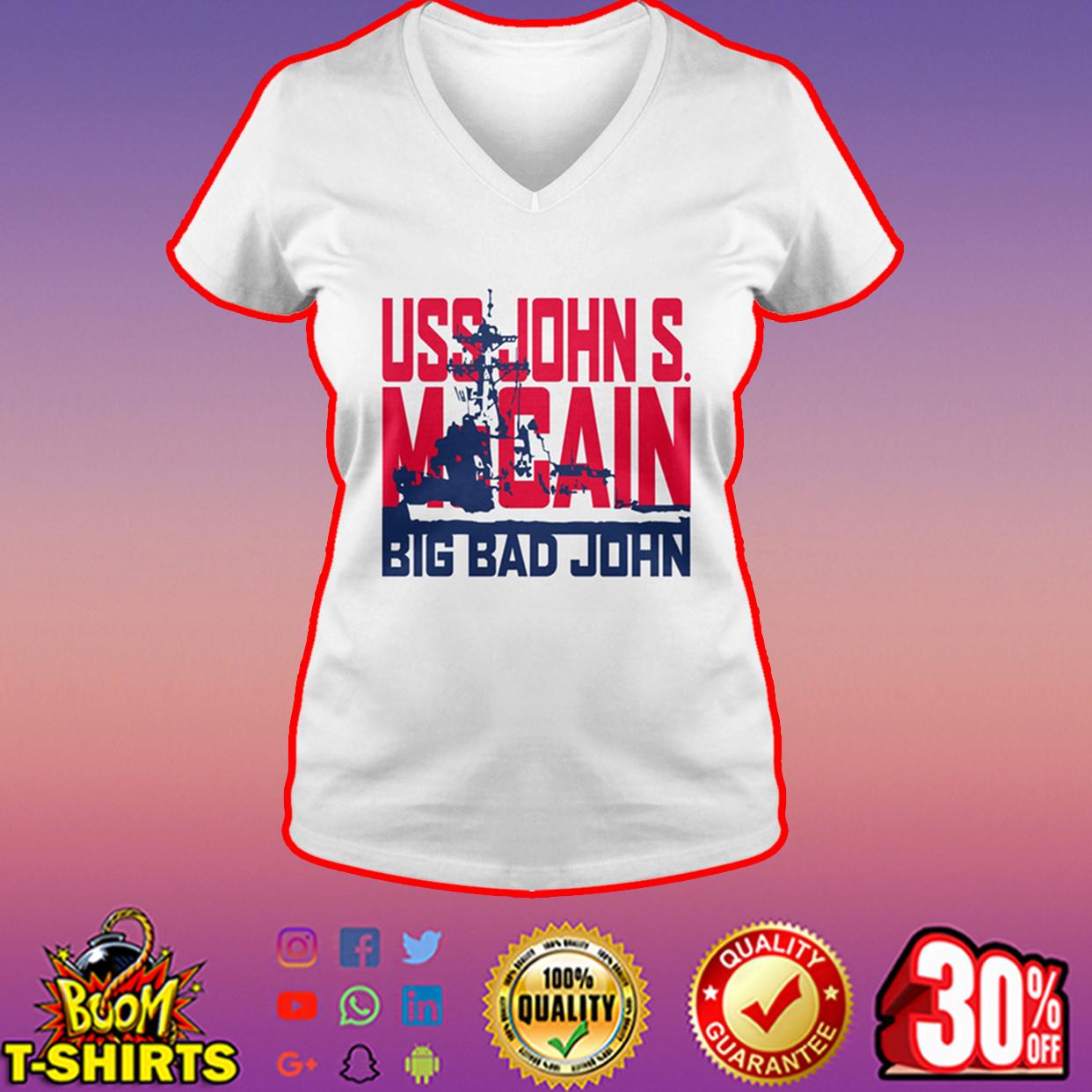 USS John S. McCain Big Bad John v-neck