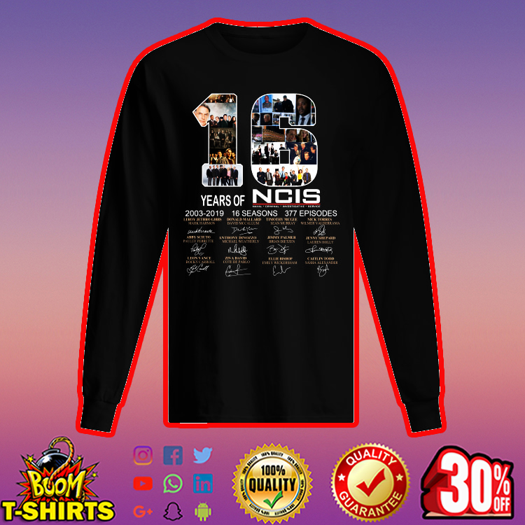 16 Years of NCIS Signature long sleeved t-shirt