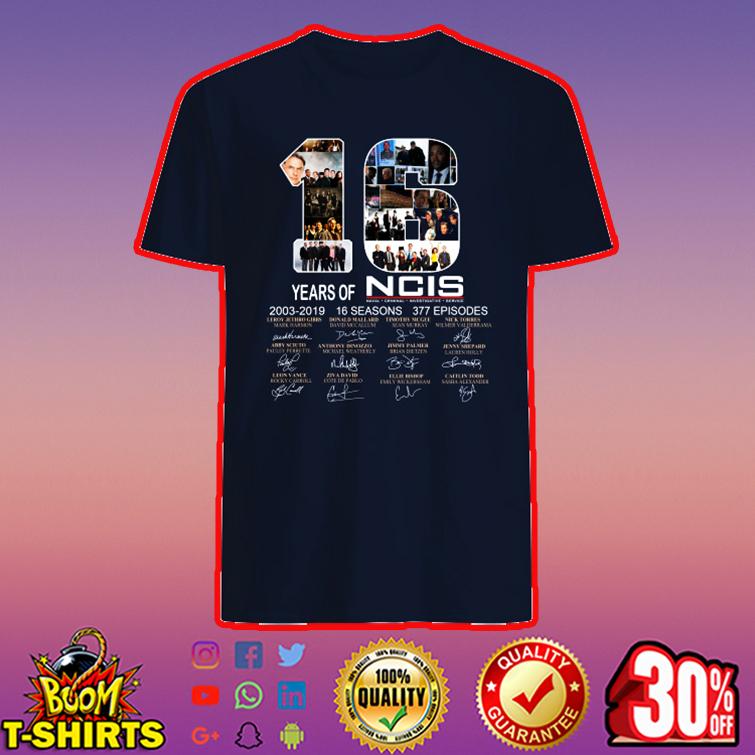 16 Years of NCIS Signature shirt