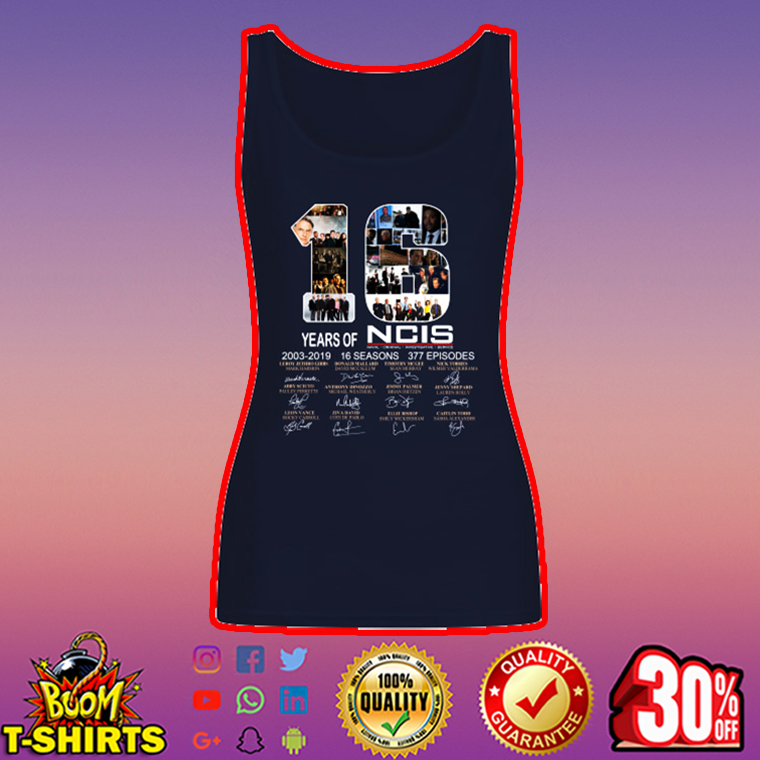 16 Years of NCIS Signature tank top