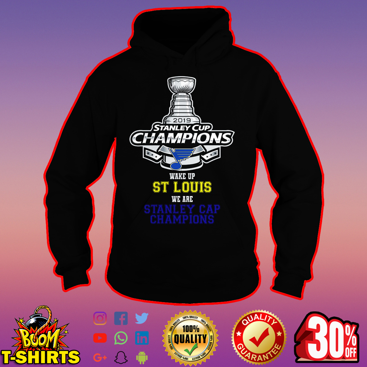 2019 Stanley Cup Champions wake up St Louis we are Stanley Cap Champions hoodie