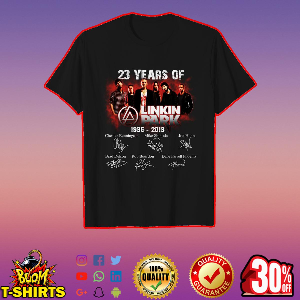 23 years of Linkin Park signature shirt
