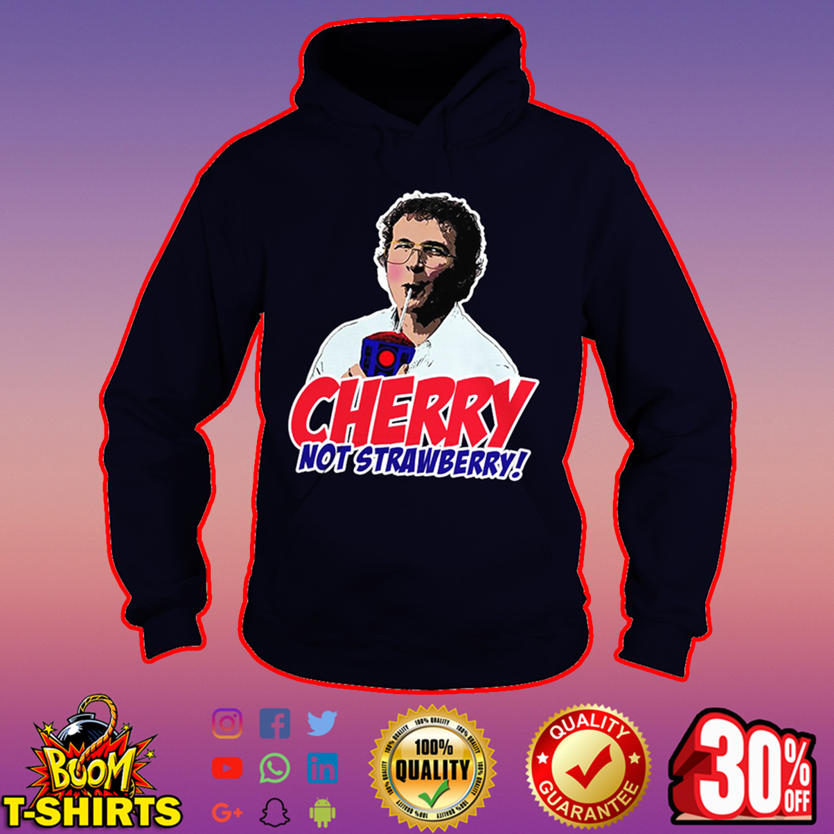 Alexei Cherry not strawberry hoodie