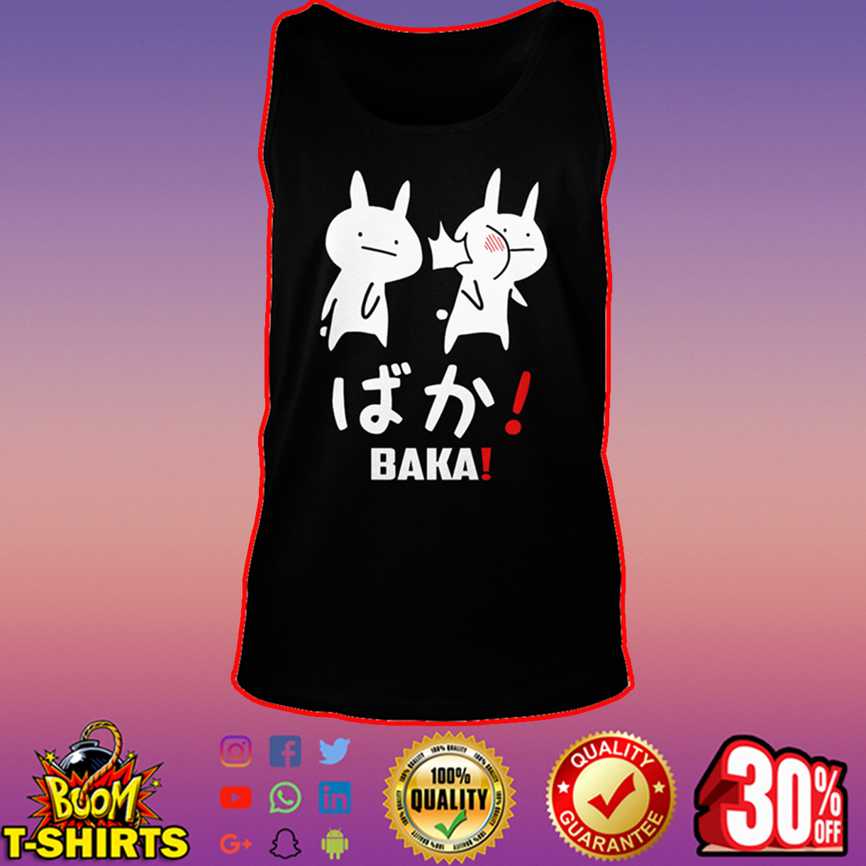 Anime Baka Rabbit Slap tank top