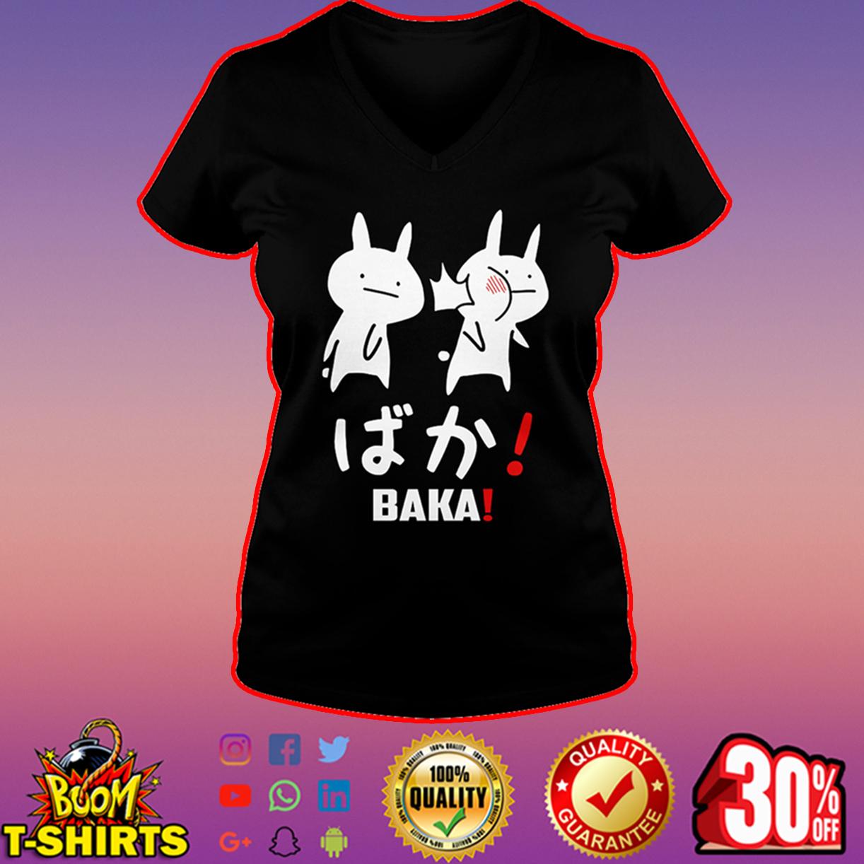 Anime Baka Rabbit Slap v-neck