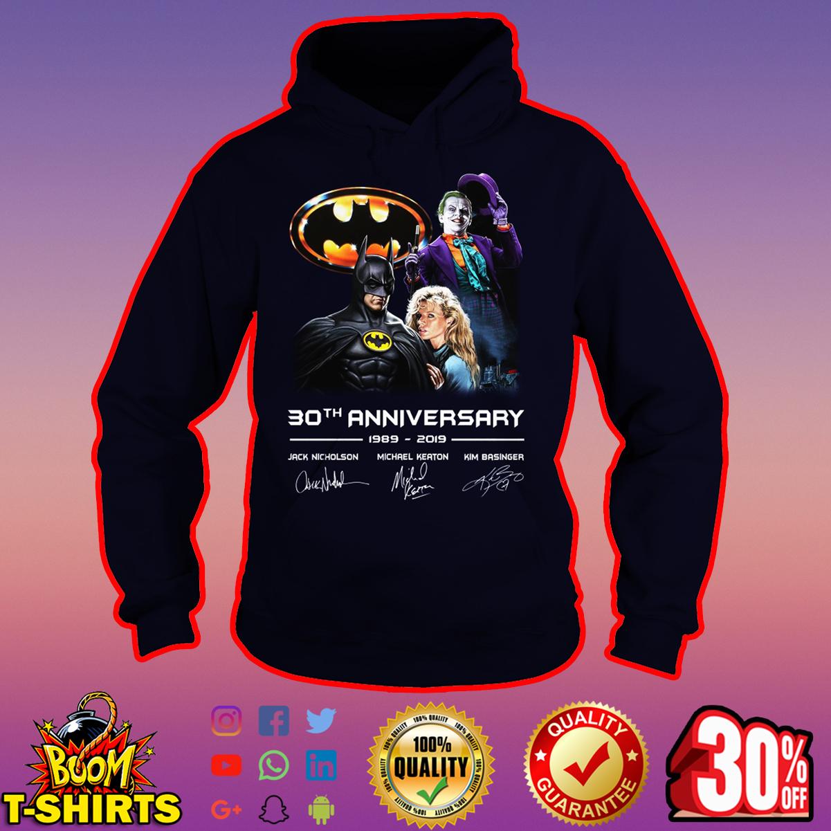Batman 30th Anniversary 1989-2019 Actors Signature hoodie