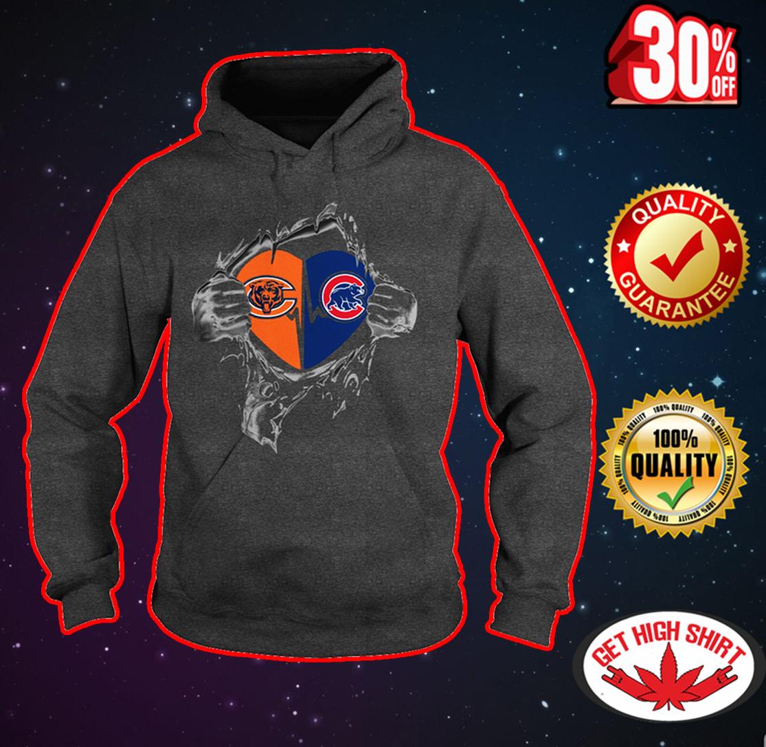 Bears and Cubs inside me hoodie