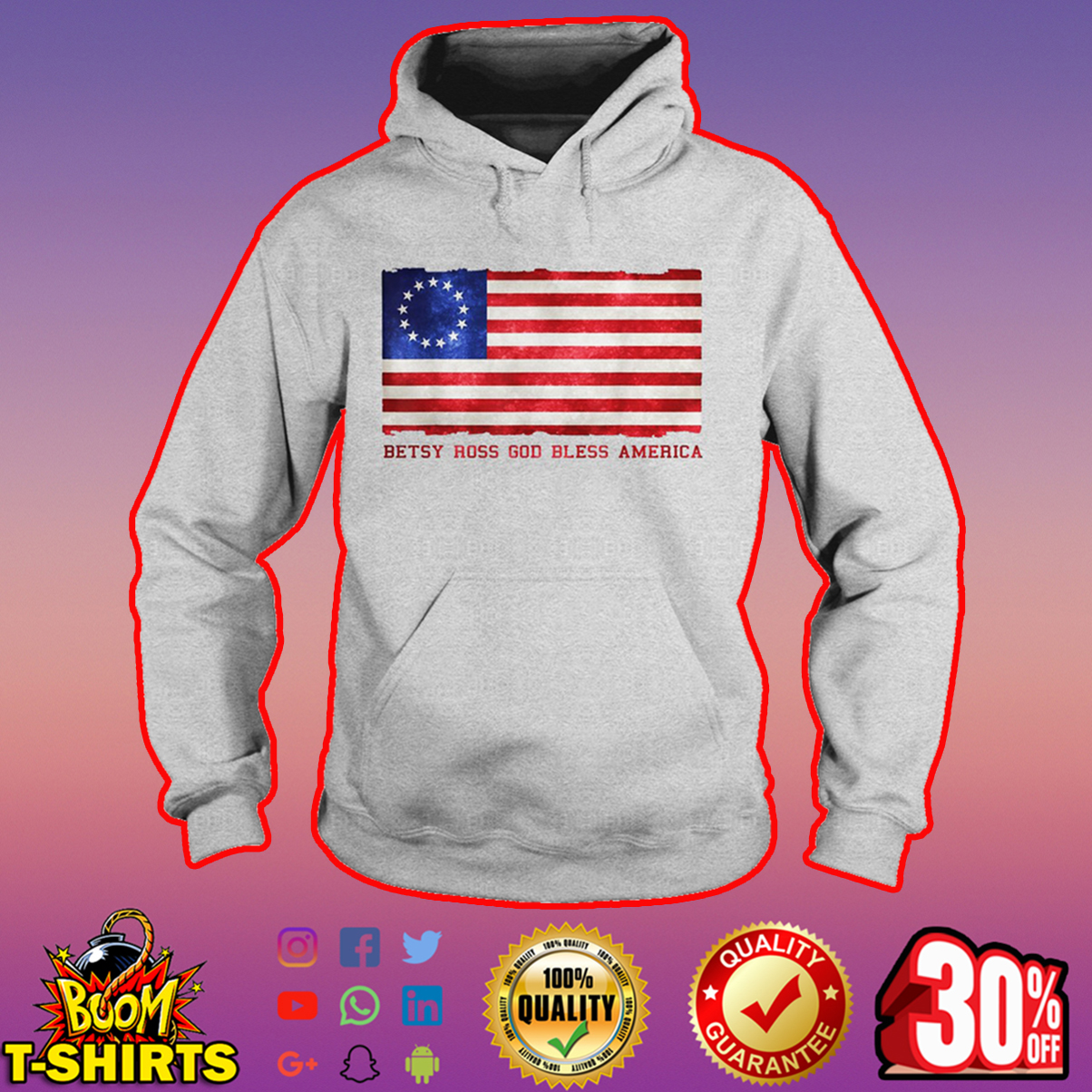 Betsy Ross God bless America hoodie