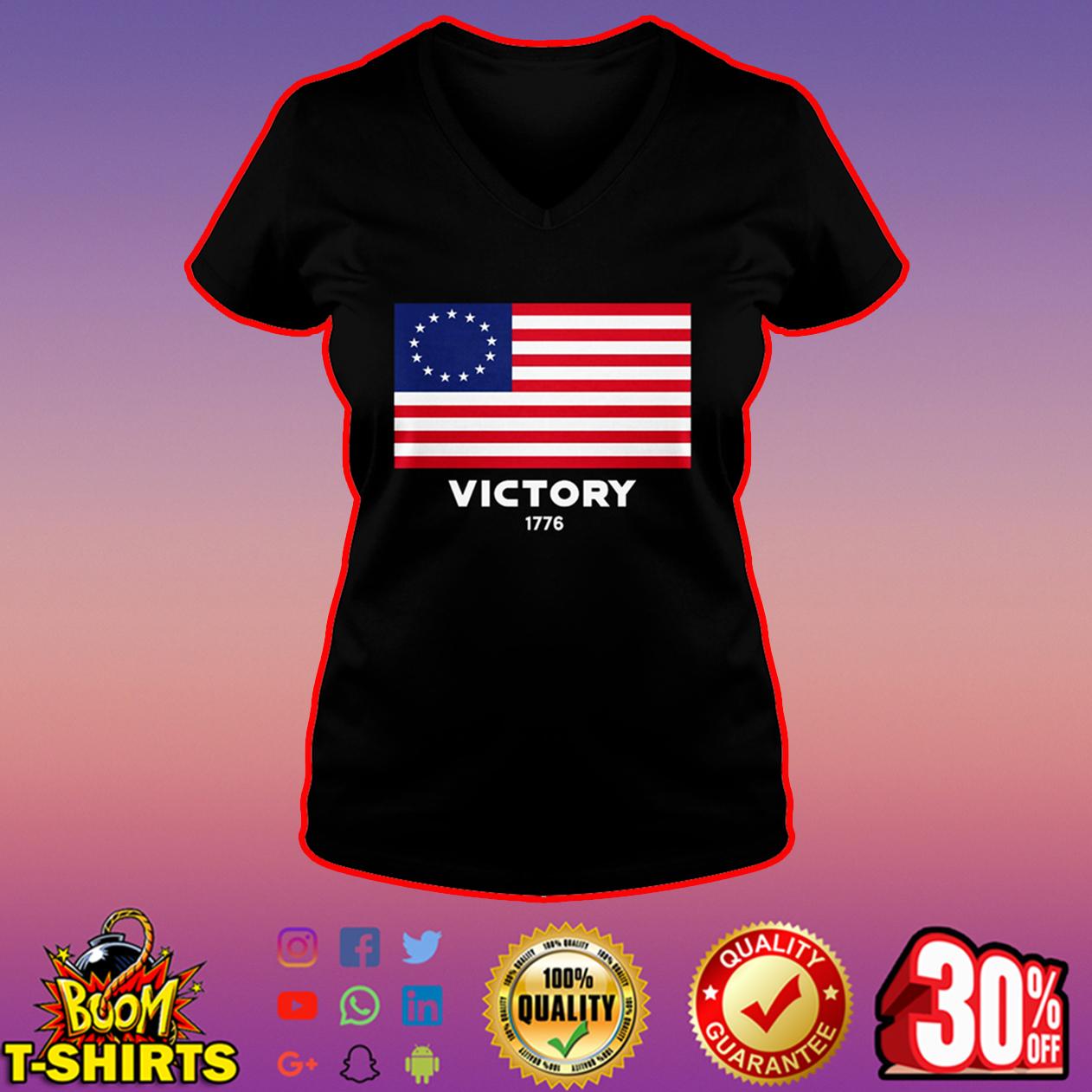 Betsy Ross flag Victory 1776 v-neck