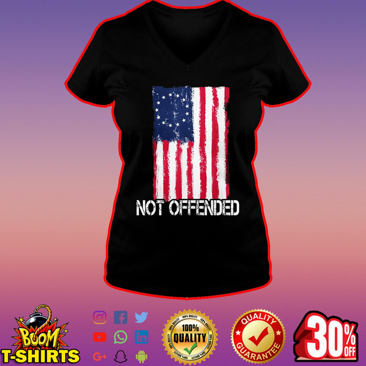 Betsy Ross flag not offended v-neck