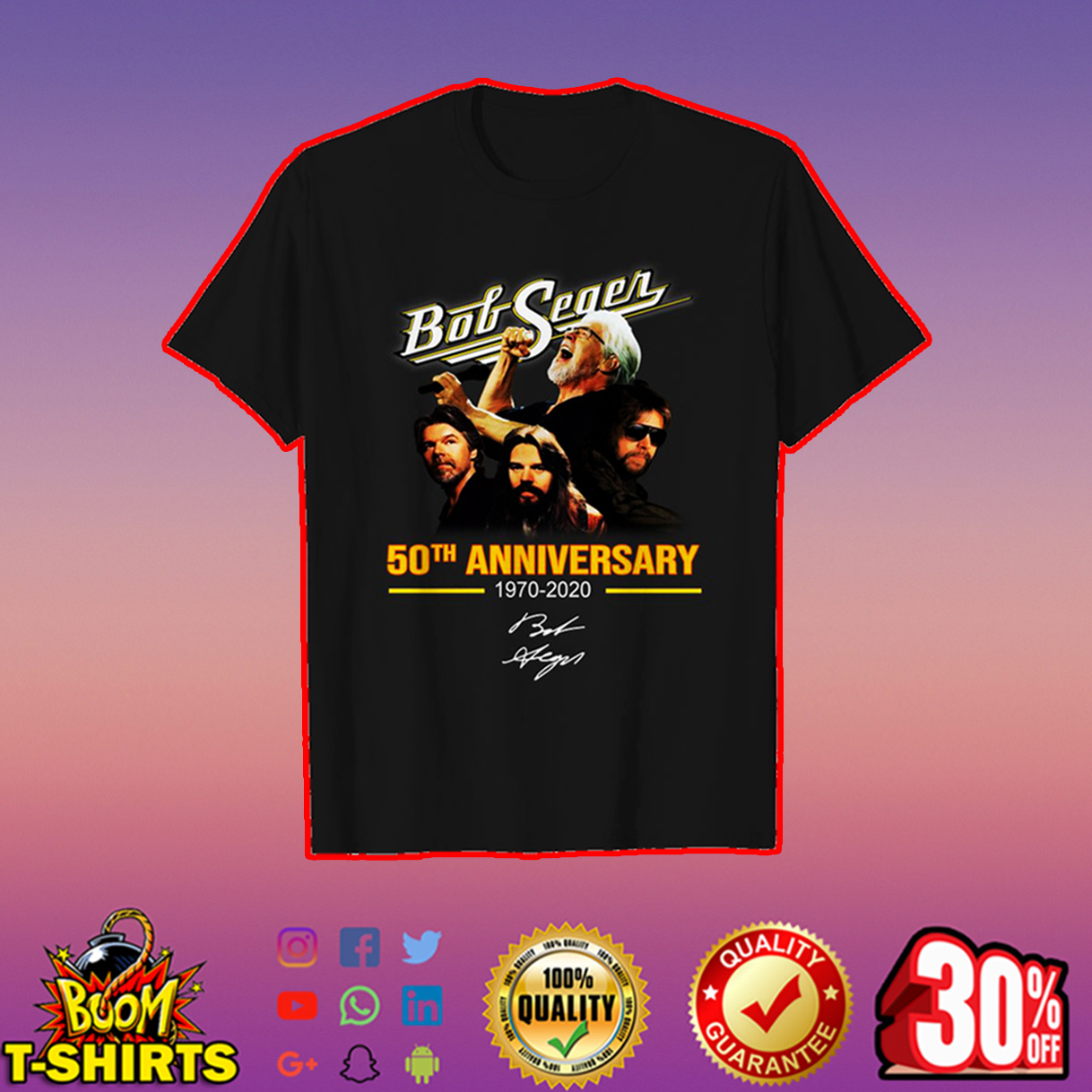 Bob Seger 50th anniversary signature shirt
