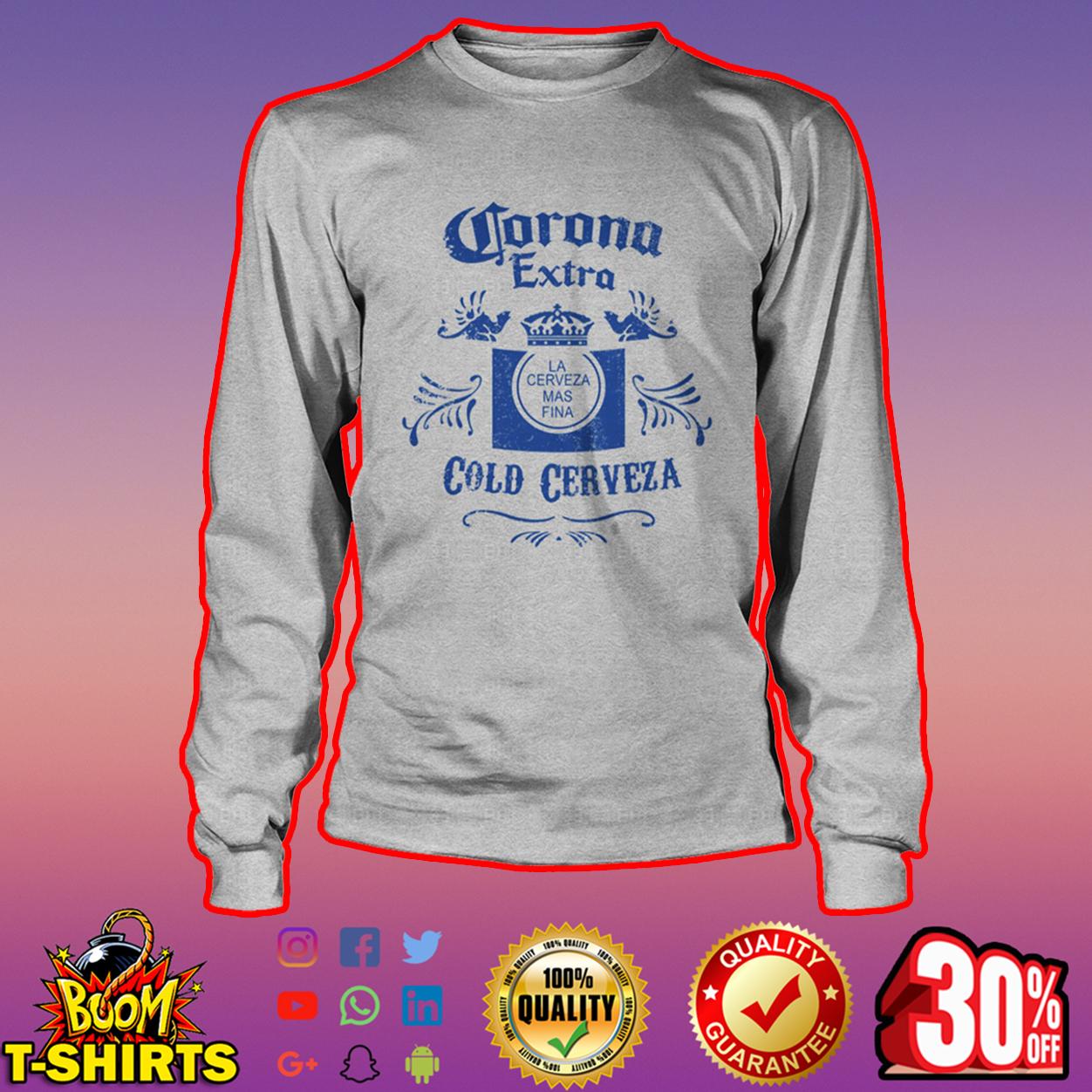 Corona Extra Cold Cerveza long sleeve tee
