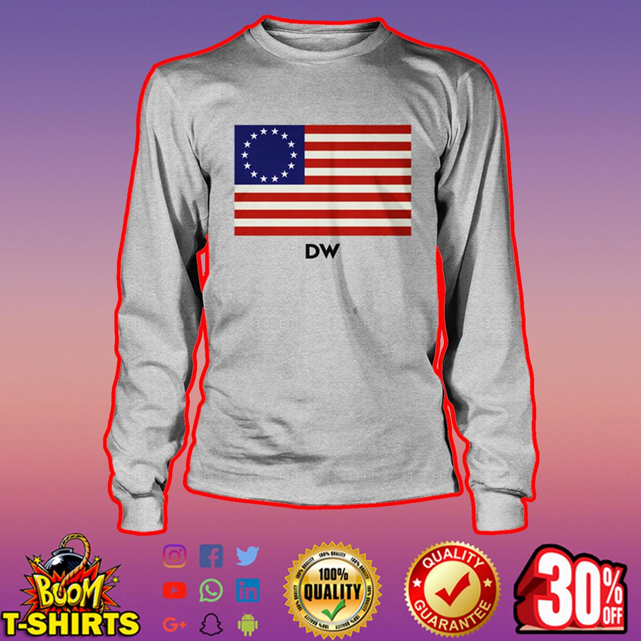 DW Betsy Ross flag long sleeve tee
