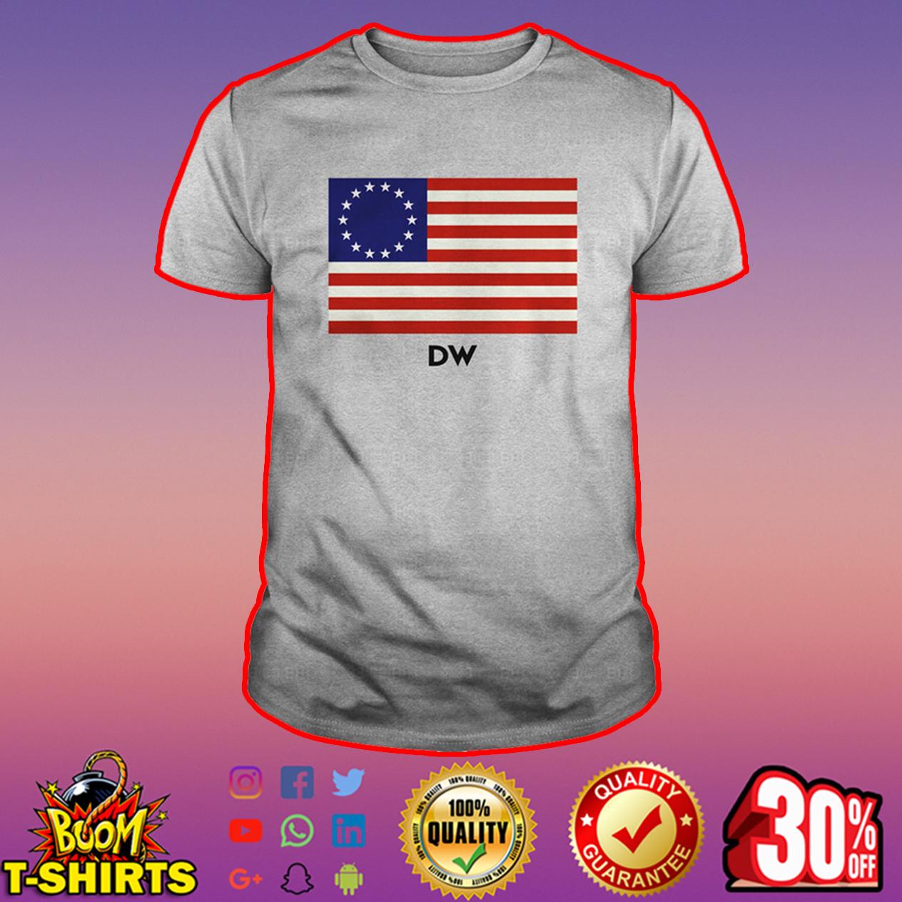 DW Betsy Ross flag shirt