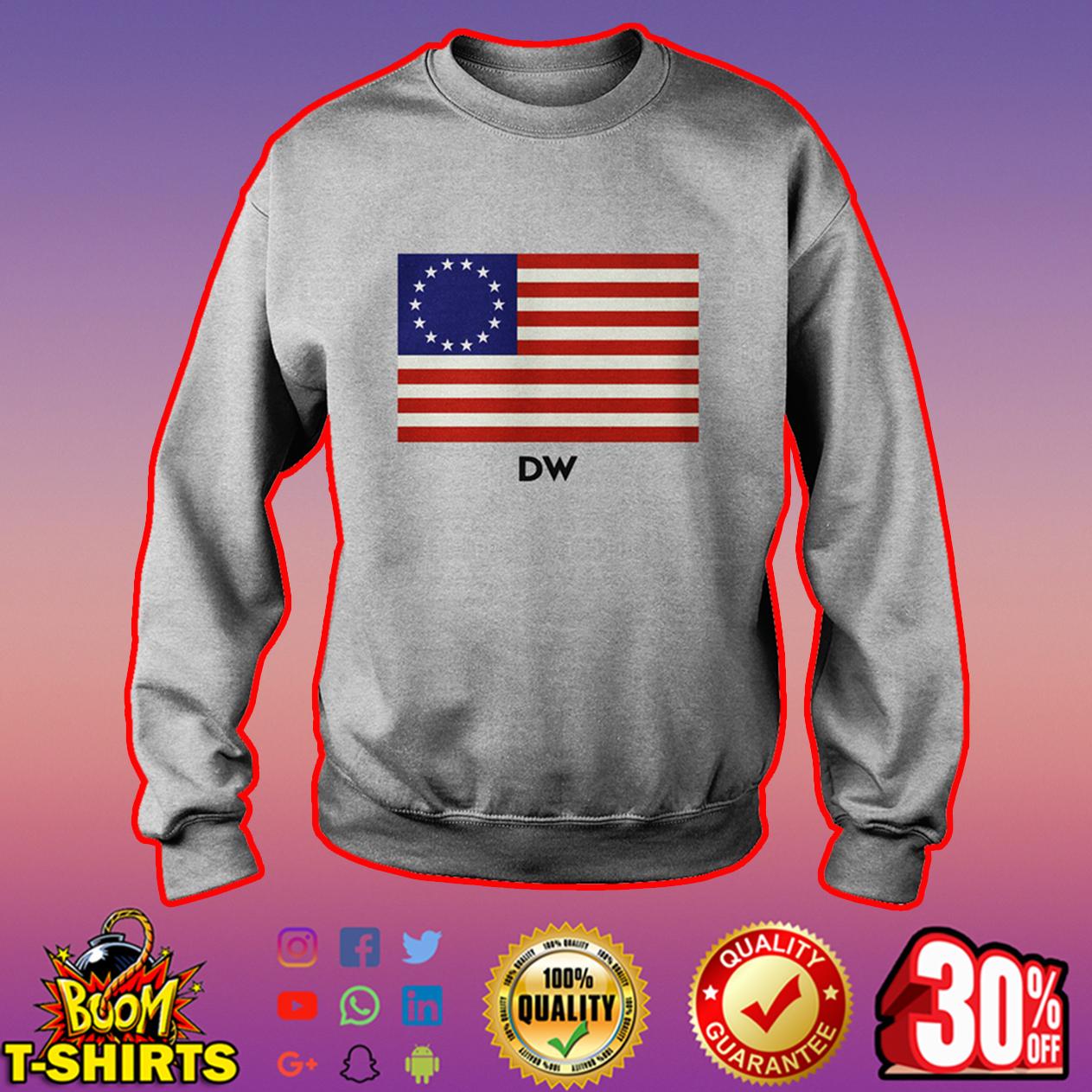 DW Betsy Ross flag sweatshirt