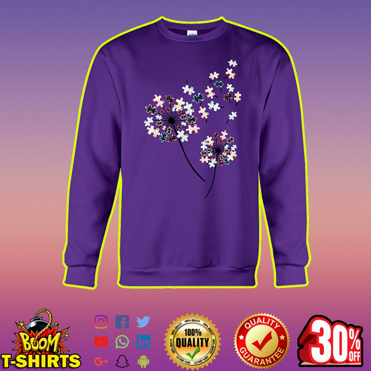 Dandelion Puzzle Autism Awareness sweatshirt
