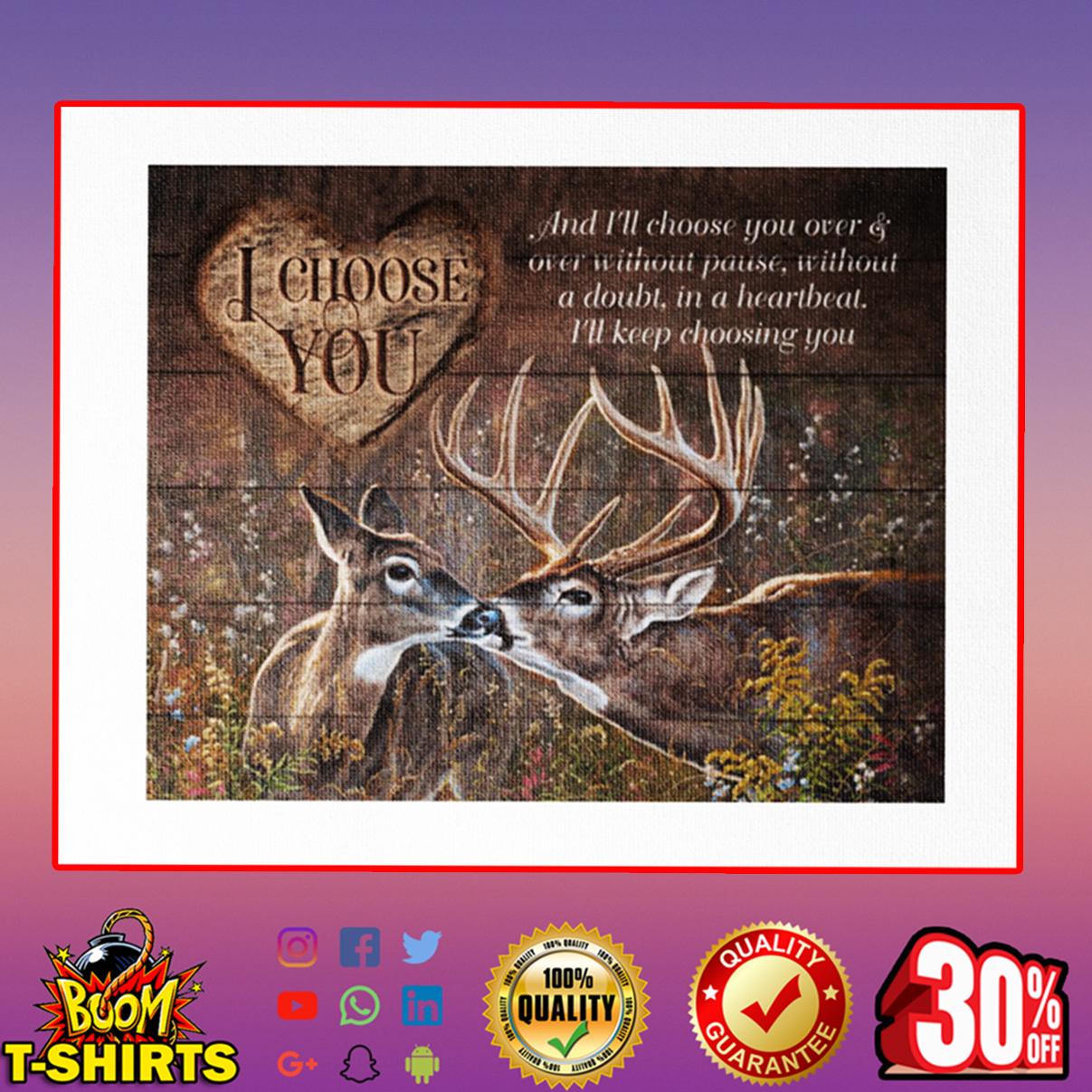 Deer I choose you canvas