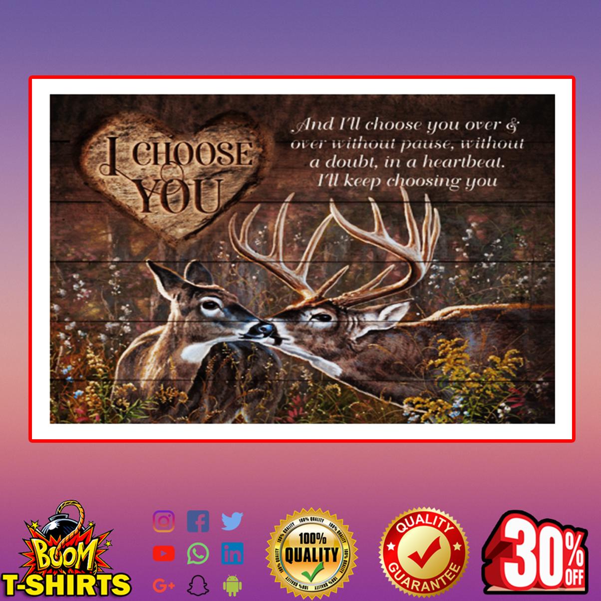 Deer I choose you poster 17x11