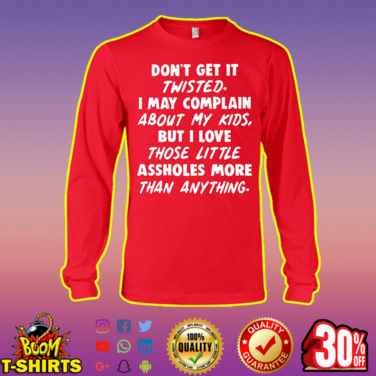 Don't get it twisted long sleeve tee