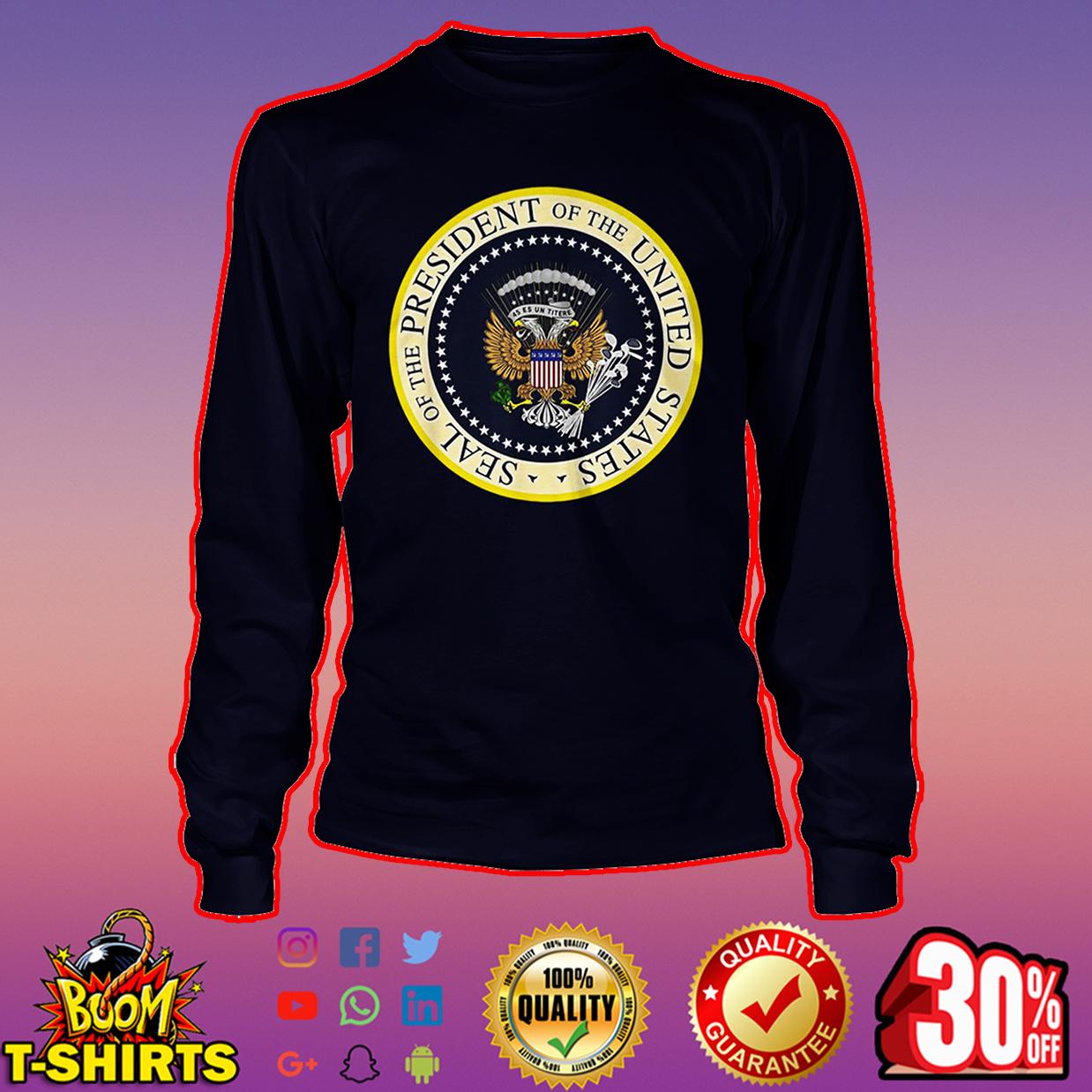 Fake Presidential Seal T Shirt long sleeve tee