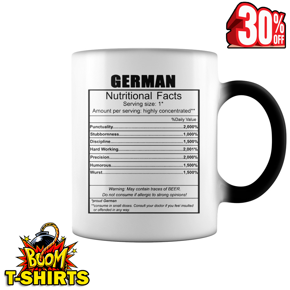 German nutritional facts mug - color change