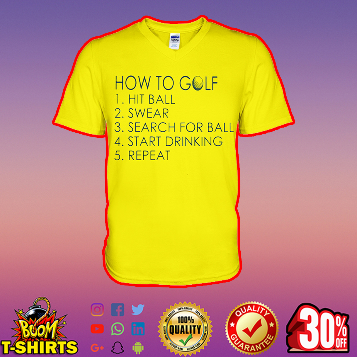 How to golf hit ball swear search for ball start drinking repeat v-neck