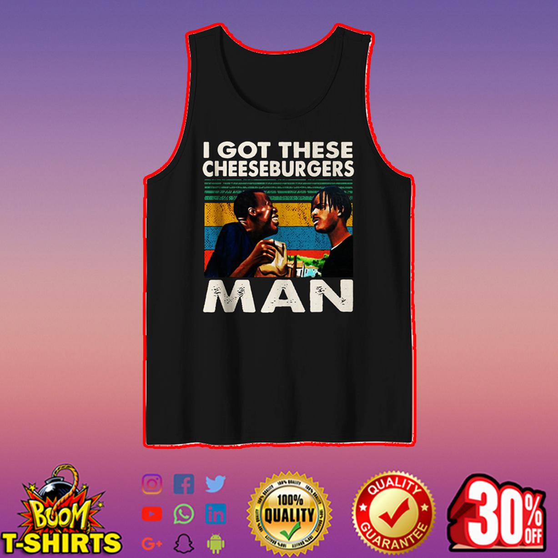 I got these cheeseburgers man tank top