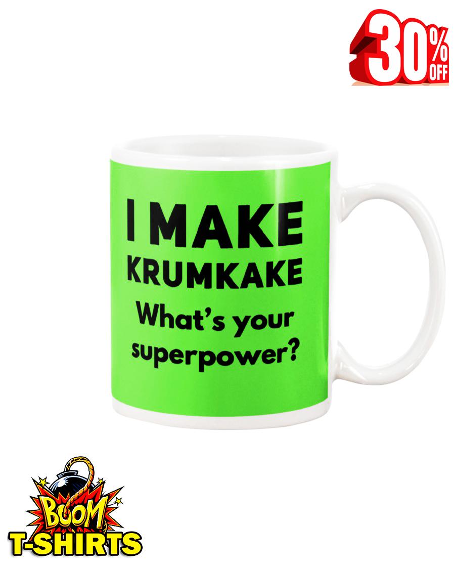 I make krumkake what's your superpower mug - kiwi
