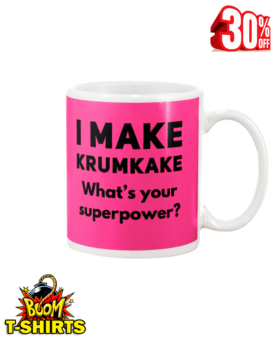I make krumkake what's your superpower mug - pink cyber