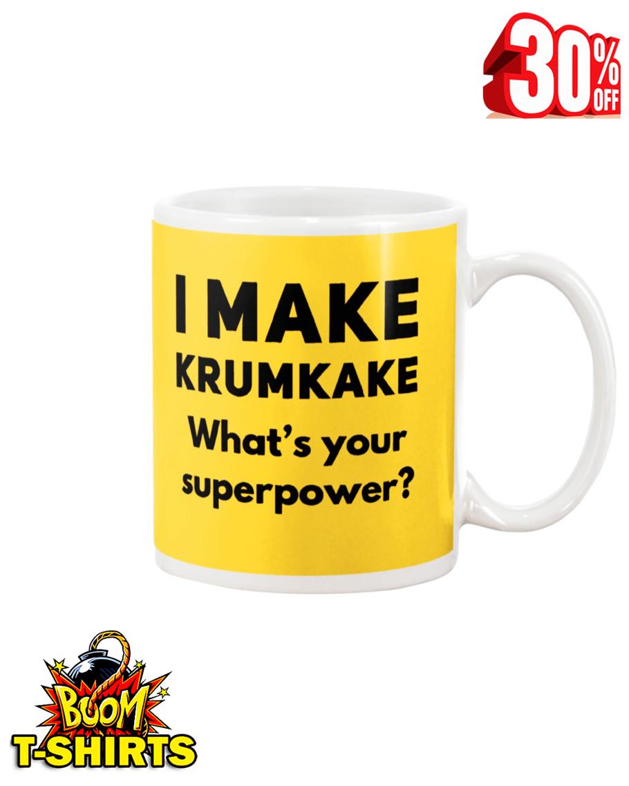 I make krumkake what's your superpower mug - yeallow