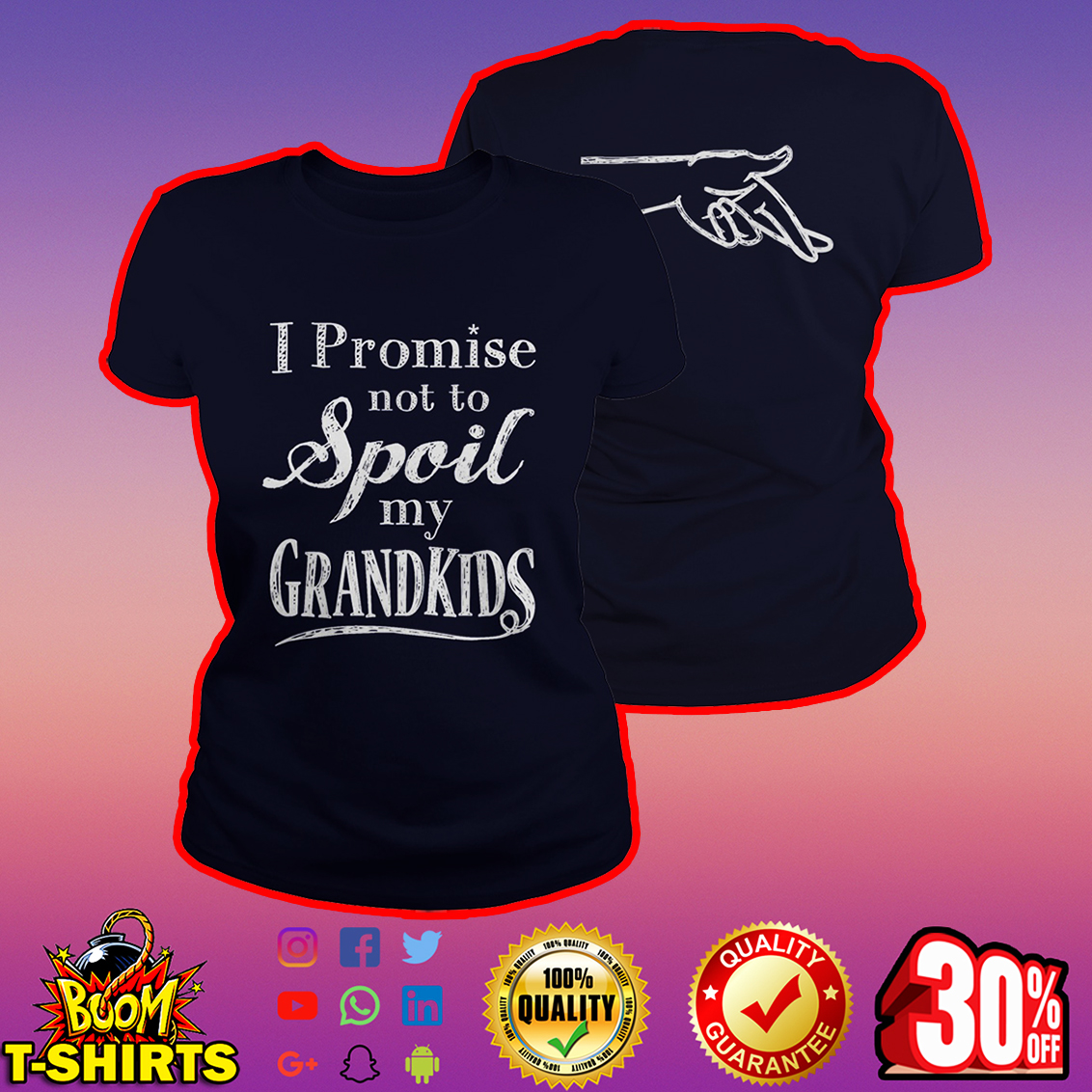 I promise not to spoil my grandkids lady shirt