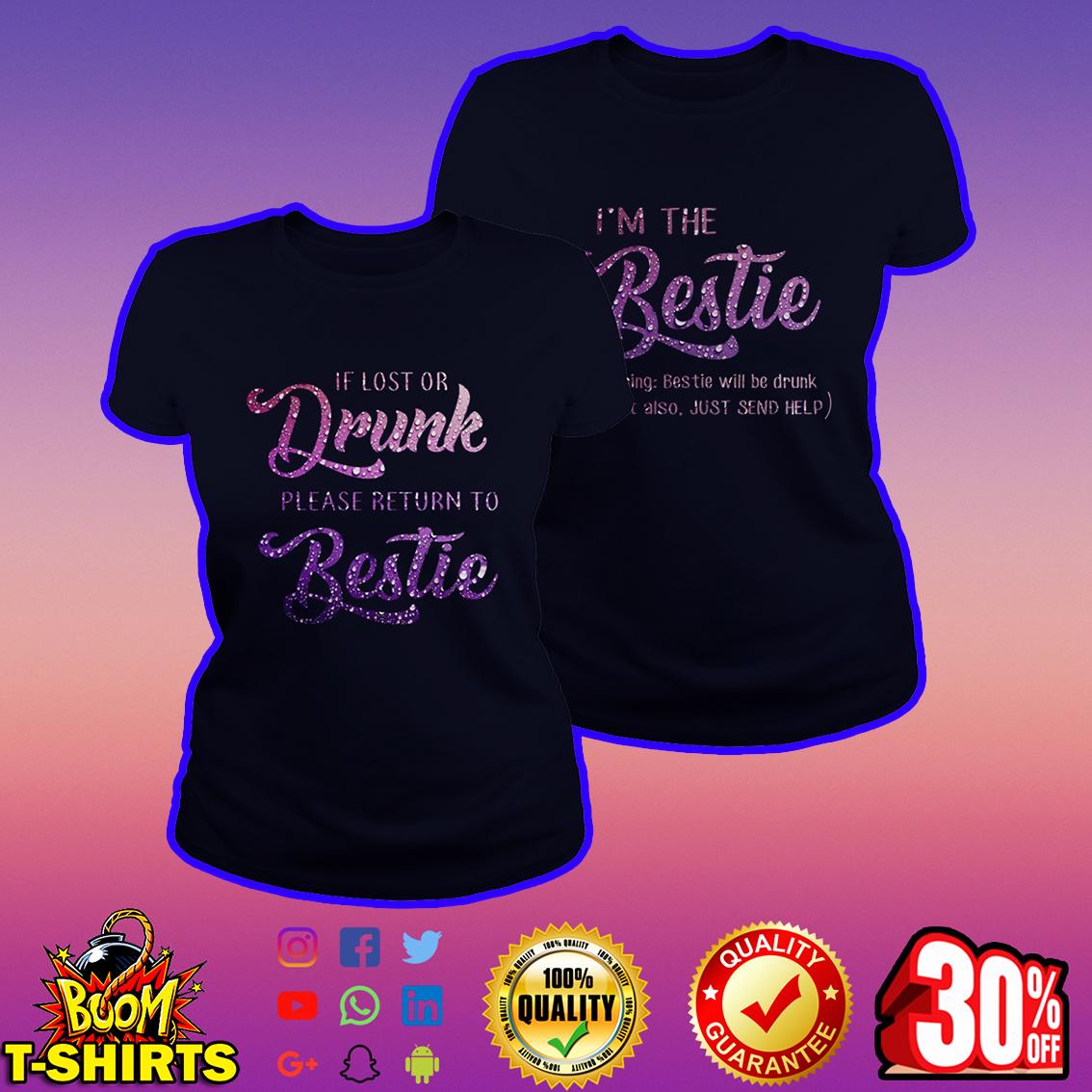 If lost or dunk please return to bestie navy shirt - best version