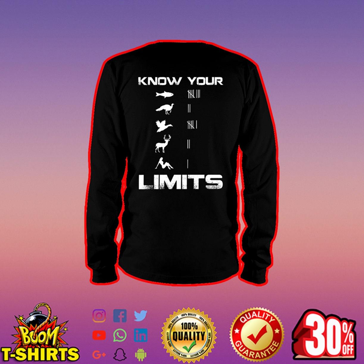 Know your Limits long sleeve tee