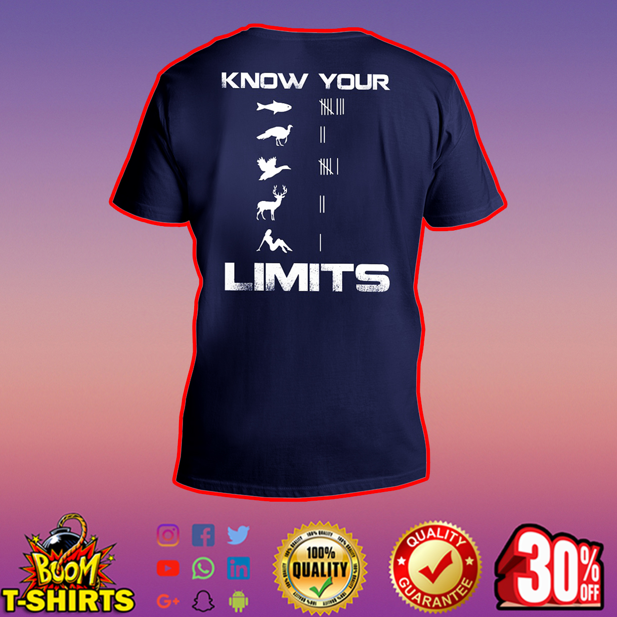 Know your Limits v-neck