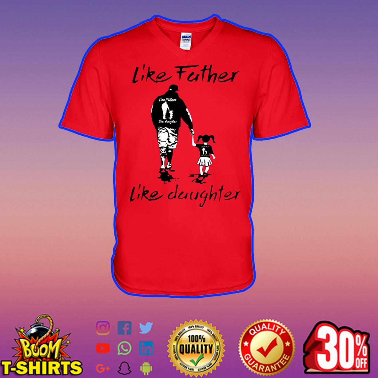 Like father like daughter v-neck