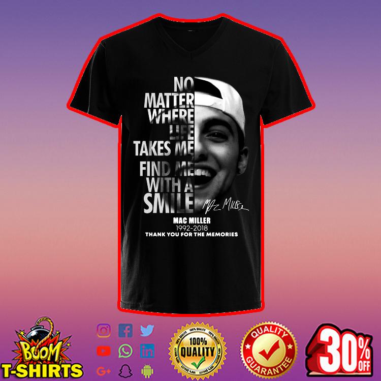 Mac Miller thank you for the memories 1992 2018 v-neck