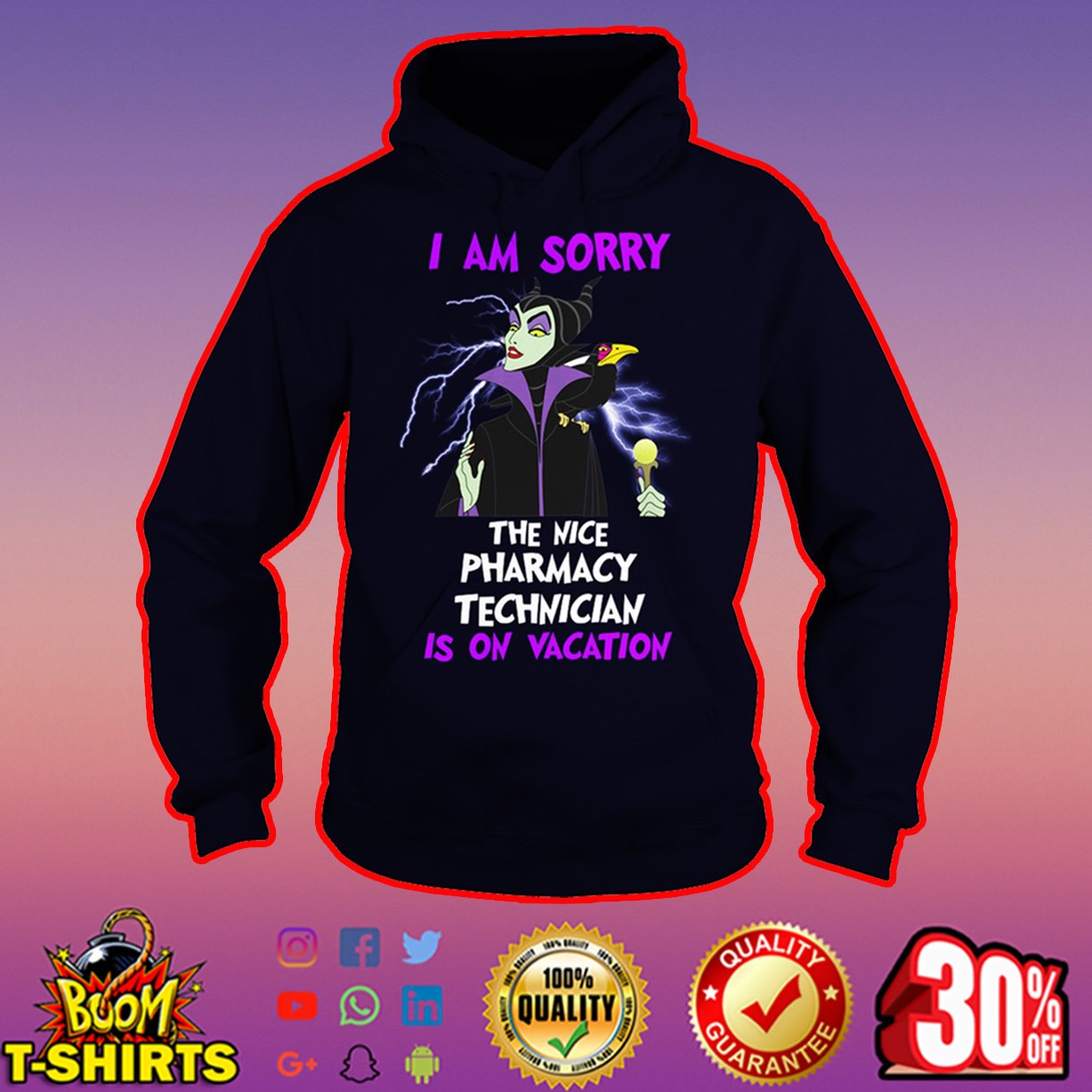 Maleficent I am sorry the nice pharmacy technician is on vacation hoodie
