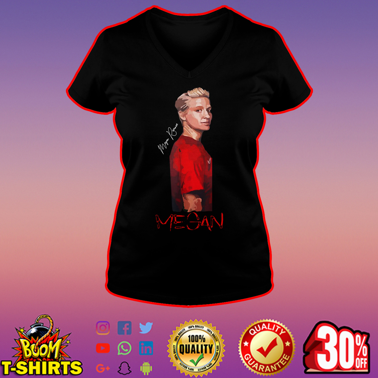 Megan Rapinoe signature v-neck