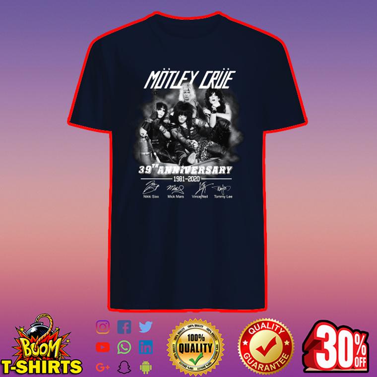 Motley Crue 39 anniversary 1981 2020 signature shirt