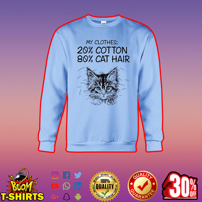 My clothes 20% cotton 80% cat hair sweatshirt
