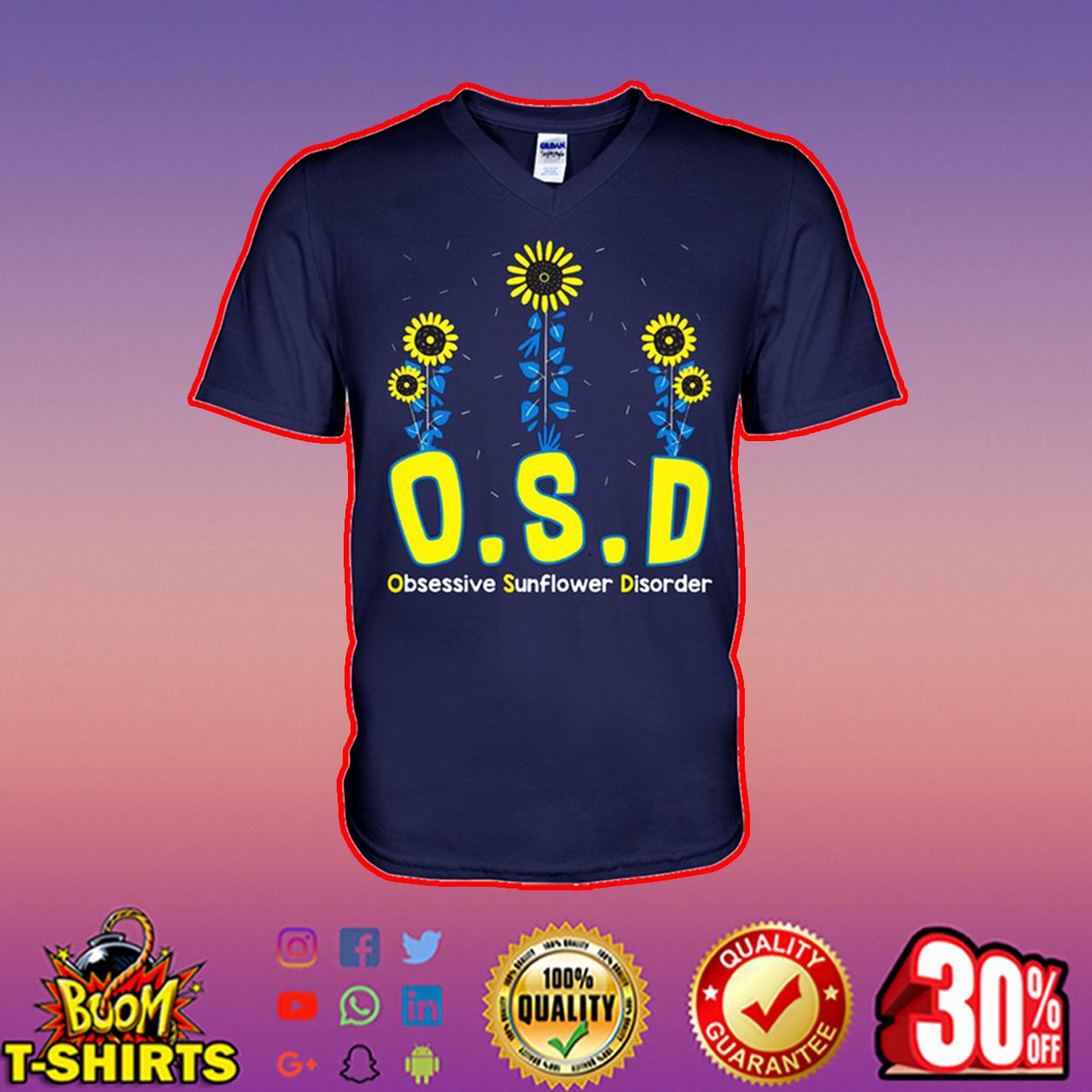OSD obsessive sunflower disorder v-neck