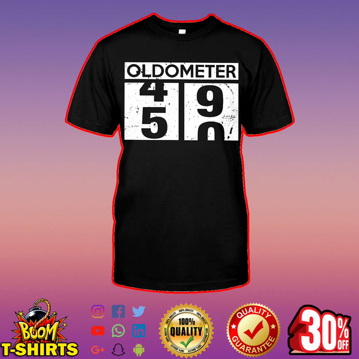 Oldometer 49 50 50th Birthday shirt