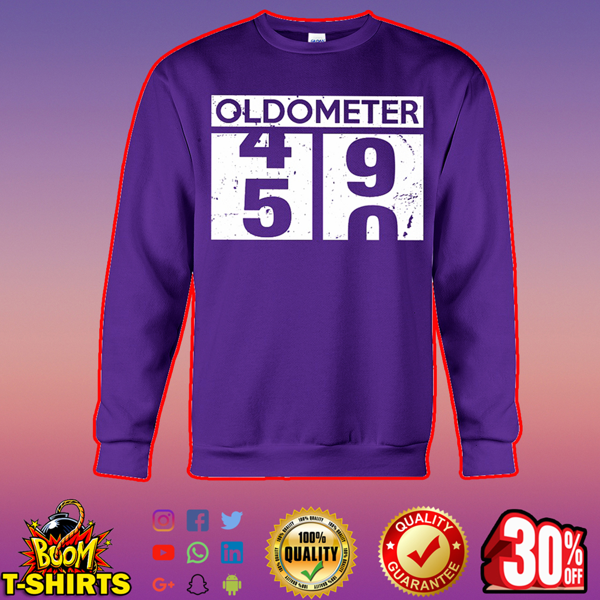 Oldometer 49 50 50th Birthday sweatshirt