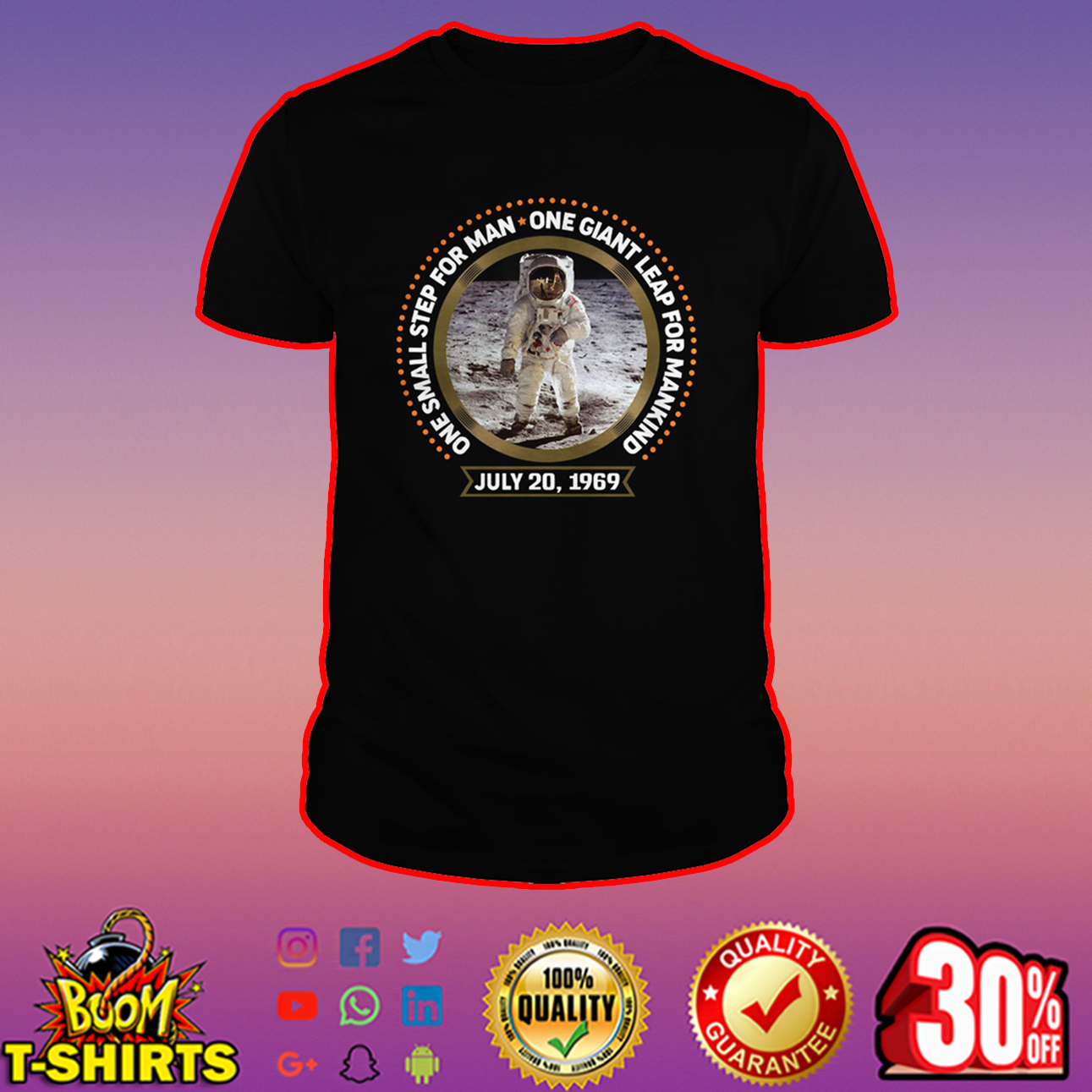 One small step for man one giant leap for mankind shirt