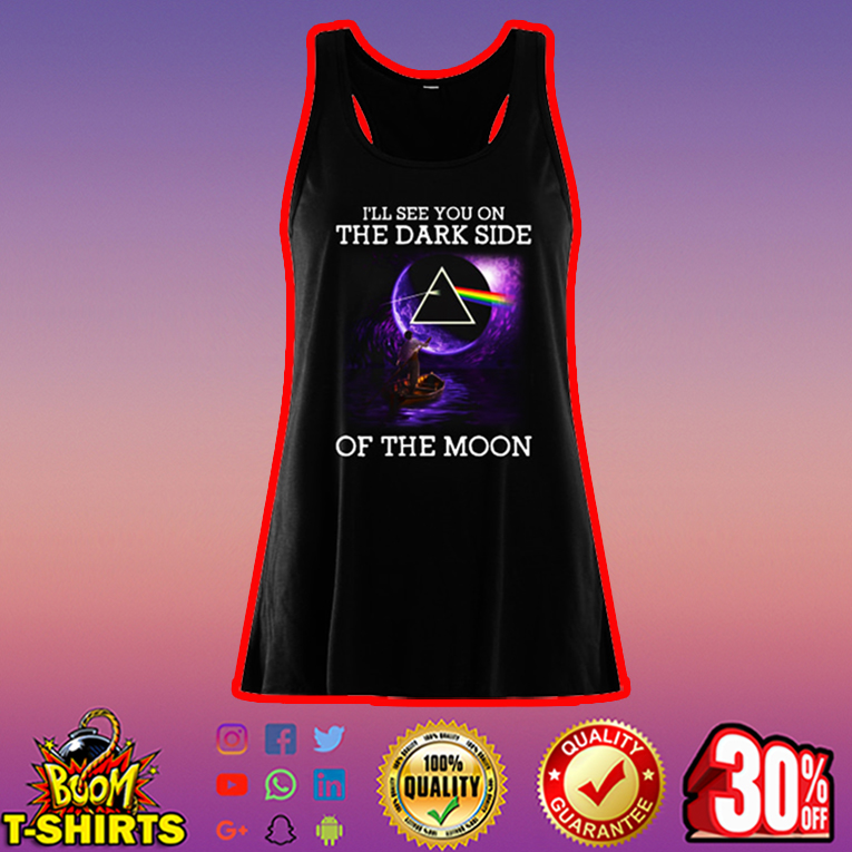 Pink Floyd I'll see you on the dark side of the moon flowy tank top