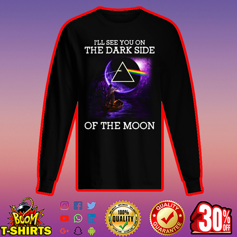 Pink Floyd I'll see you on the dark side of the moon long sleeved t-shirt