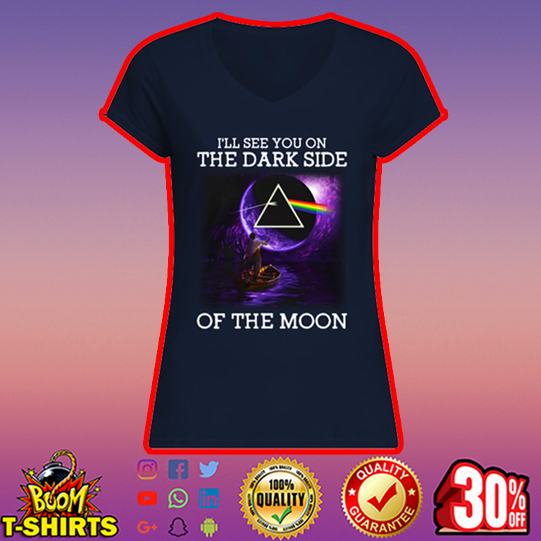 Pink Floyd I'll see you on the dark side of the moon v-neck