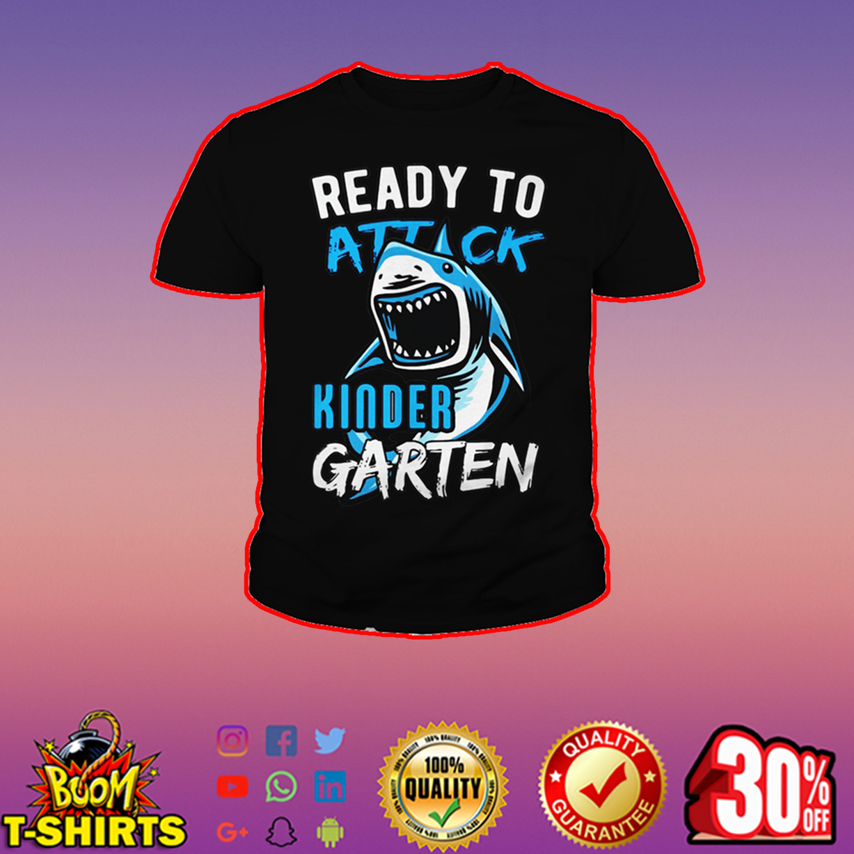 Ready to attack kinder garten youth tee